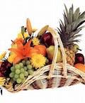 Fruit & Flowers in a Fireside Style Basket